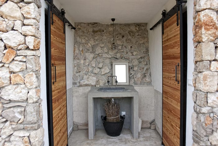 Sisters Homes in Vidovici, island Cres, Croatia.